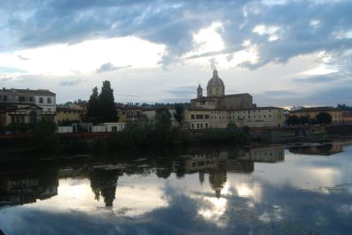 Oltrarno (Old Florence) at dusk
