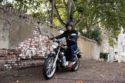 Motorbike portrait photography