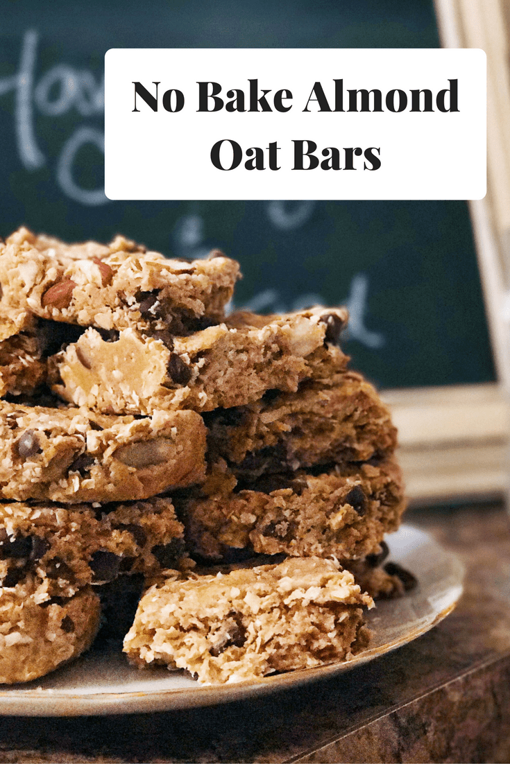 No Bake Almond Oat Bars