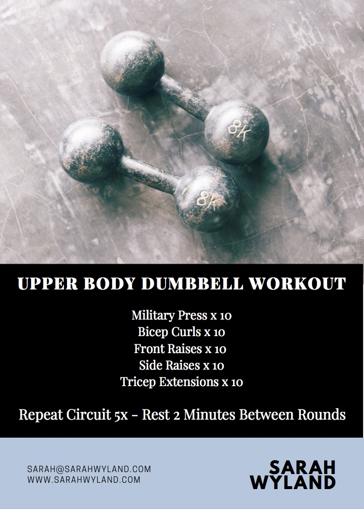 Upper Body Dumbbell Workout | Sarah Wyland