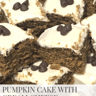 Recipe: Pumpkin Cake with Cream Cheese Frosting