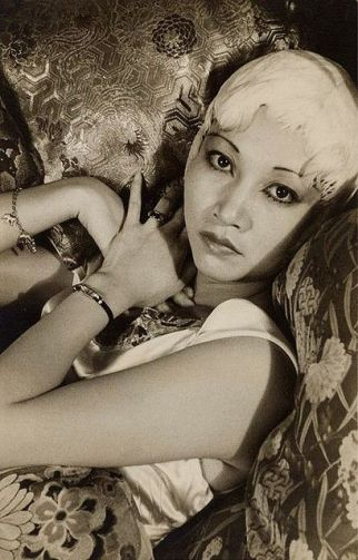 Anna May Wong (1905-1961) was the first Chinese American movie star. She grew up in L.A., daughter of a laundryman. She first starred, at age 17, in Toll of the Sea, a silent version of Madame Butterfly. Her best-remembered film is Shanghai Express with Marlene Dietrich.