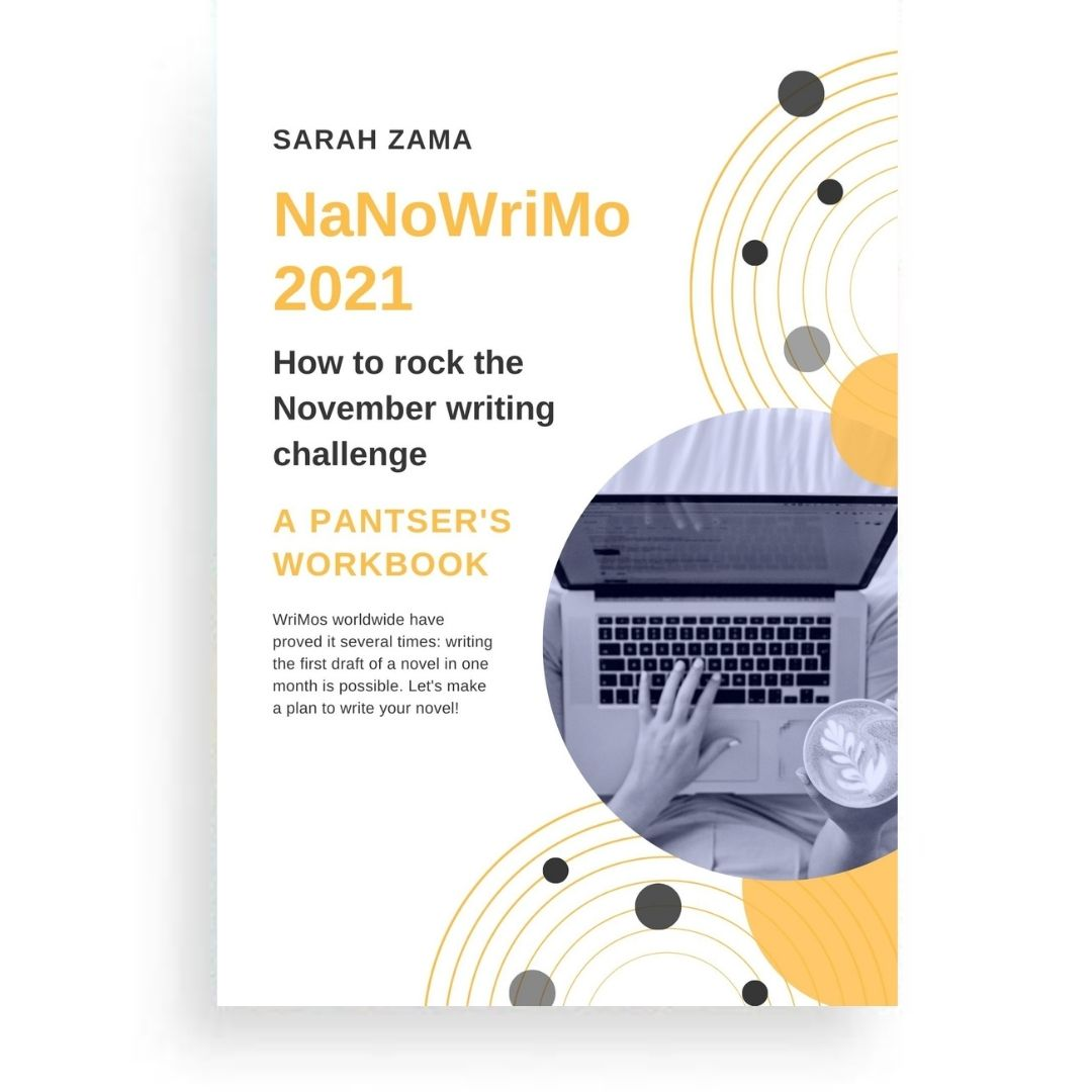 This booklet is a collection of most of the templates that I use to prepare my NaNoWriMo. There are pages to work out the plot, the characters and the setting, and of course, there are calendars and a word tracker. It comes in a version for planners and one for pantsers.