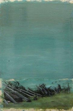 Escape of the Mailboxes -Sarah-Gonek-Zar Hurricane Katrina Paintings 2005