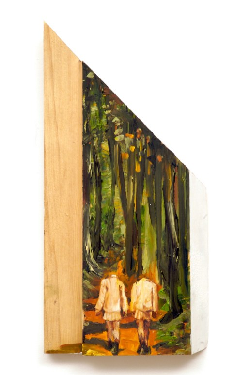 Headless Beings- by sarah gonek zar, forest girls oil paintings