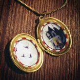 Optimist Detector Locket necklace with house and birds