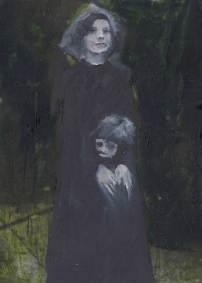 Woman protecting little boy Sarah Zar oil paintings