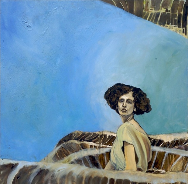 portrait water paintings of a Blue Roman archetypal woman