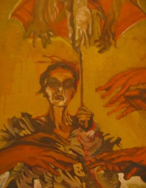 Opocaust highly saturated indian yellow oil paintings