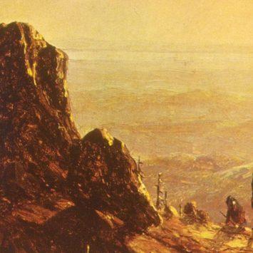 ~Moonlight Hunters on Mount Mansfield, via Sanford Robinson Gifford.