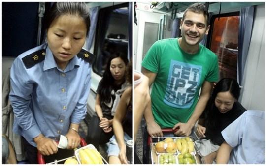 food cart chinese train