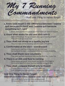 7 Running Commandments