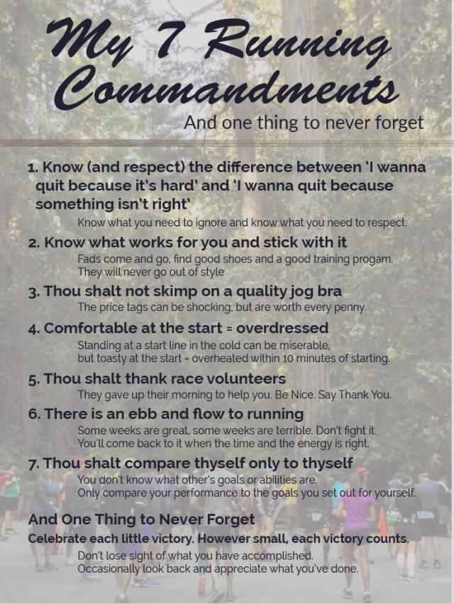 7 Running Commandments