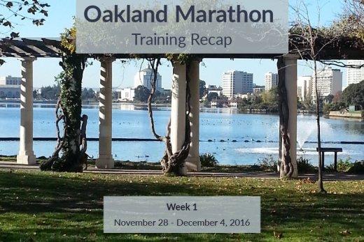 Oakland Marathon Recap Week 1