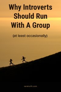 introverts running with a group