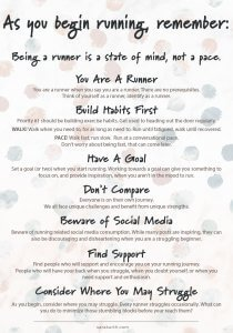 What to remember as you become a runner