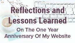 One Year Website Anniversary