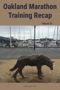 Oakland Marathon Training Recap week 8