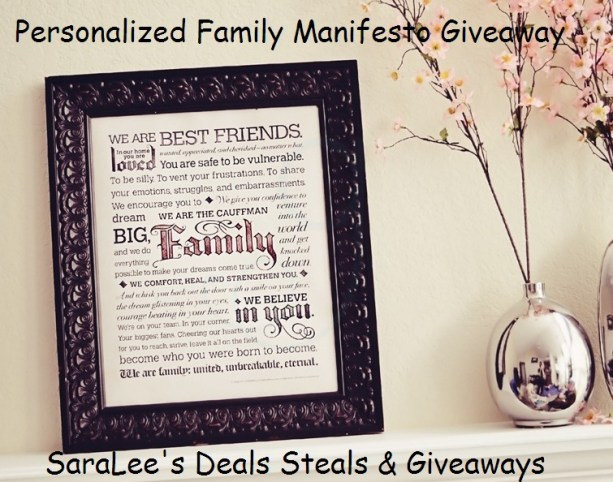 Personalized Family Manifesto Review & Giveaway