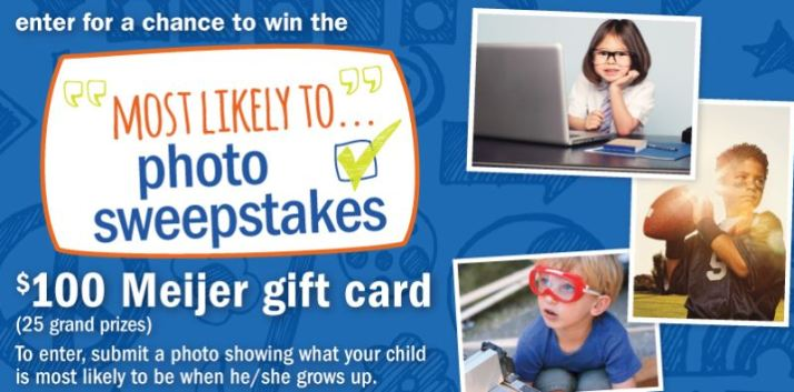 Meijer's Back-to-School Photo Sweepstakes 97