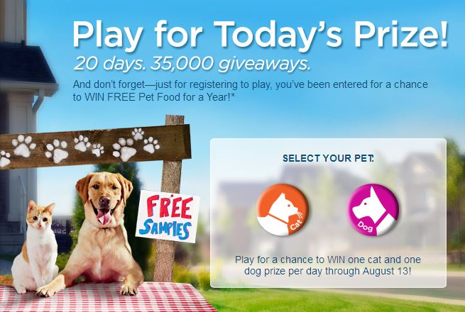 Purina® Deal-A-Day Giveaway Instant Win Game