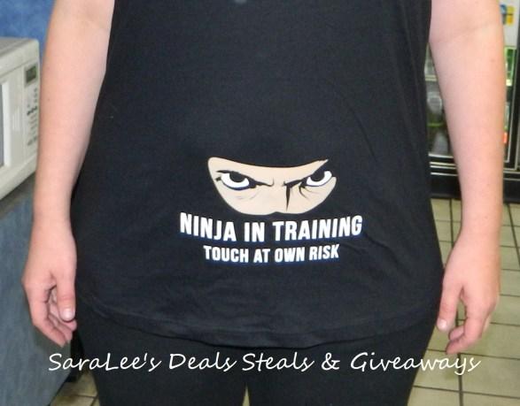 Ninja in Training Maternity Shirt