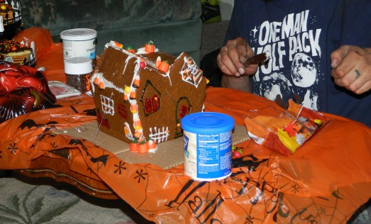 Husband work on the house