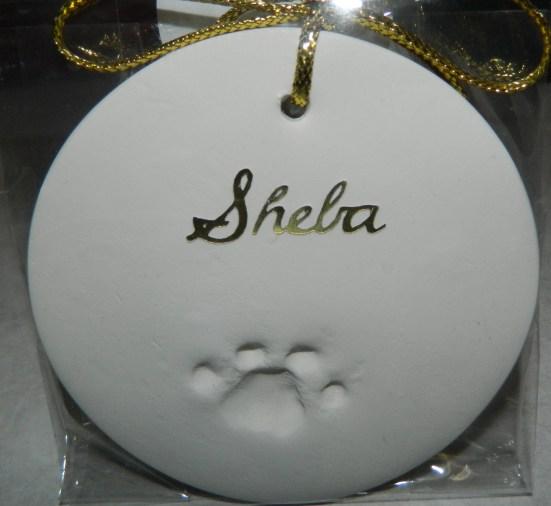 Sheba's paw print