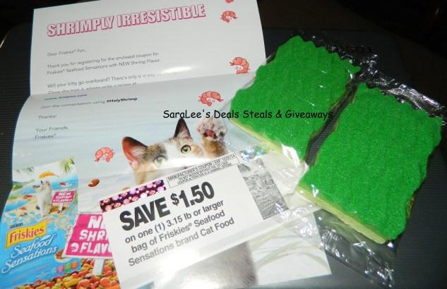 coupon and sponge