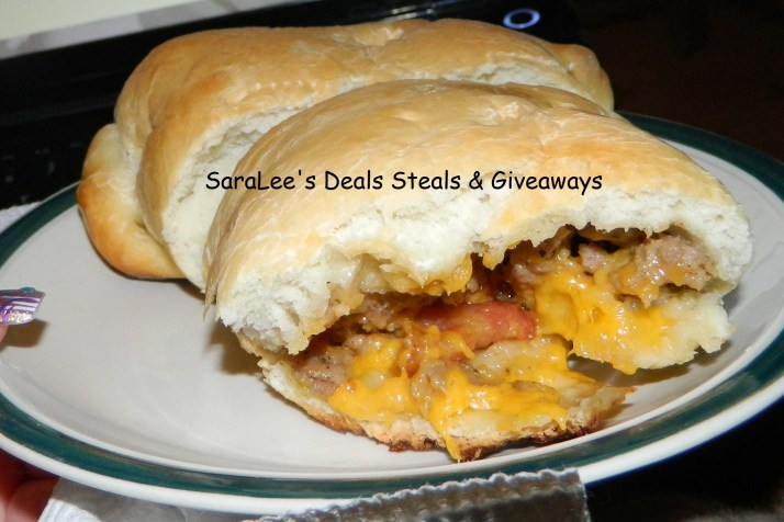 Sausage & bacon bread