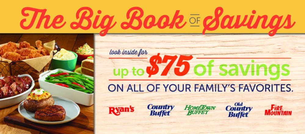 Ryan's, HomeTown Buffet, & Old Country Buffet: The Big Book of Savings (1/3)