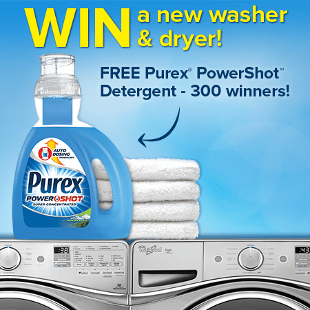 Coming Soon: Purex PowerShot Detergent Sweepstakes & $1 off coupon Daily 3/31 (1/6)