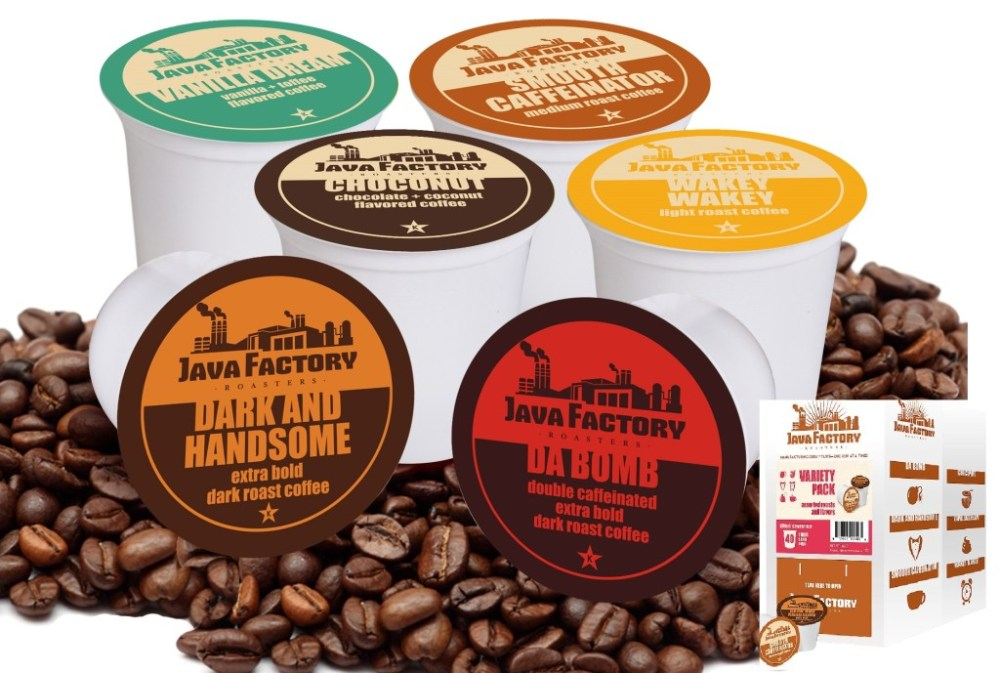 Java Factory 40 Count Variety Pack Single Cup Coffee (1/4)