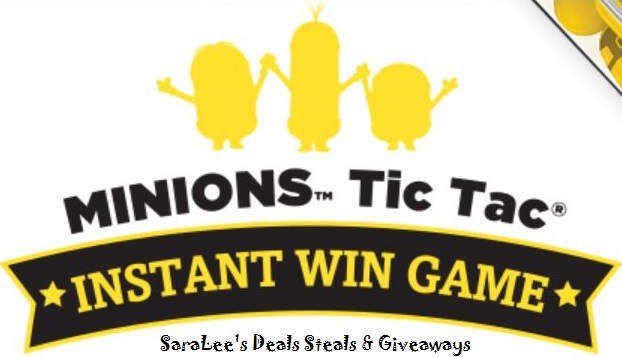 The Minions Tic Tac Instant Win Game 7/31 Daily (1/2)