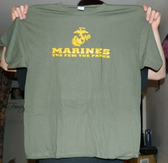 AW Fashion's Marines Front Logo - The Few, The Proud