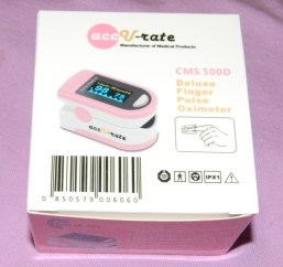 Acc U Rate CMS 500D Generation 2 Fingertip Pulse Oximeter Oximetry Blood Oxygen Saturation Monitor