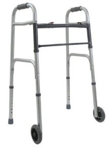 Folding Adult Walker with 5in Wheels