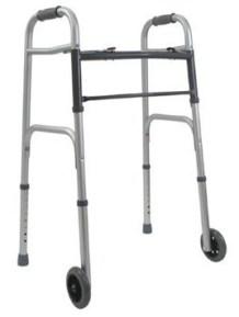 Folding Adult Walker with 5in Wheels