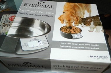 EYENIMAL Intelligent Pet Bowl; Electronic Scale with Built in Pet Water/Food Removable Stainless Steel Bowl
