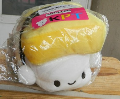"Sushi Cushion Plush Toy Pillow (Egg 6"") & Mini Sushi Brothers Figures (Bonus)"
