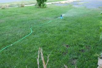 Kelley General Expandable Flexible Garden Water Hose, 75' & Dealpeak Lawn Sprinkler
