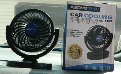 AboveTEK 12V DC Car Cooling Fan