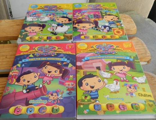 ABC Monsters 1-4 DVD's