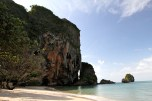 Took a boat tour, 1st stop was Railay Beach. Good for rock climbing.