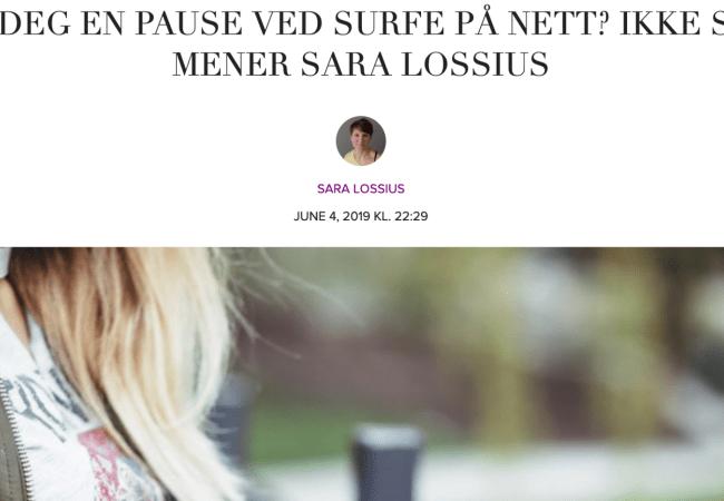 Fra Kamille: Ikke lur deg til at pause på mobilen er pause for hjernen