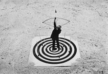 Gilbert Garcin - Le coeur de la cible