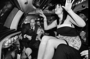 THE FAMILY Mitch Pyle in a limo with friends on his birthday