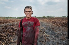 ***NO NAMES TO BE USED*** A sugar cane worker poses for a photograph on the Ingenio San Antonio plantation, in Chichigalpa, Nicaragua on May 2, 2014.