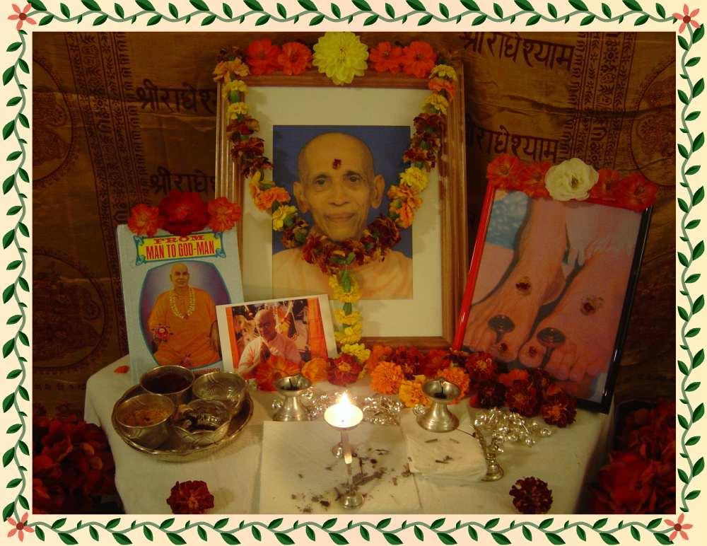 Gurudev Chidananda's 91st Bday Celebration at our house, Milwaukee, WI
