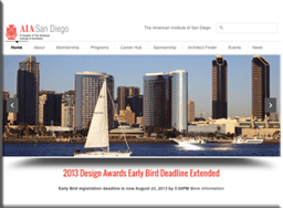 American Institute of Architects San Diego - Website by Sara Ohara